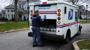 The Postal Service warns states that voters risk not getting their ballots back to election offices in time because of lags in mail delivery times