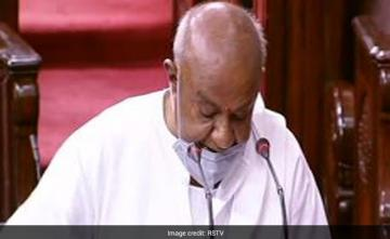 "HD Deve Gowda Takes Rajya Sabha Oath, ""Good Addition,"" Says Chairman"