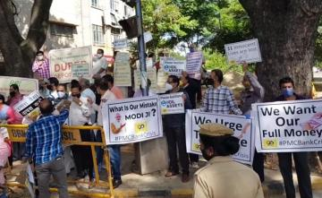 "Beleaguered Banks' Depositors Protest ""Inaction"" At Bengaluru RBI Office"