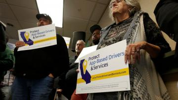Uber, Lyft look to kill California law on app-based drivers