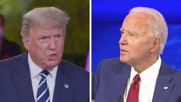 On one channel, voters heard Trump shifting blame and undermining masks. On the other, Biden savaged the President for doing just that.