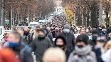 Confrontation at German coronavirus protest goes viral