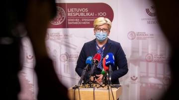 Lithuania's parliament OKs new PM, then closes due to virus