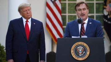 MyPillow Guy among the Trump acolytes picking up the torch
