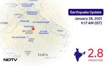 Earthquake With Magnitude 2.8 Strikes Near Delhi