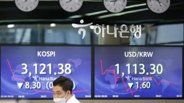Asian shares down on caution after modest US gains