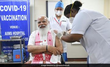 PM Modi's Message To India As He Takes First Shot Of Coronavirus Vaccine