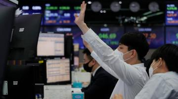 Asian shares track Wall St decline as bond yields rebound