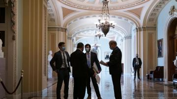 Senate Dems strike jobless aid deal, relief bill OK in sight