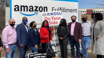Black Lives Matter backs Amazon union push in Alabama