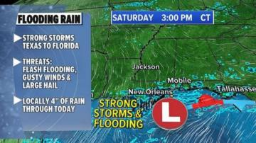 Severe weather brings major flash flooding to South this weekend