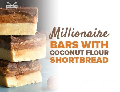 Satisfy Your Sweet Tooth With These Yummy Paleo Shortbread Cookie Bars