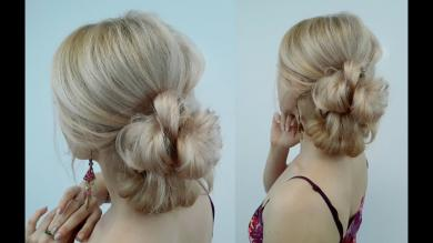 QUICK AND EASY HAIRSTYLE VOLUMINOUS BUN IN MINUTES | Awesome Hairstyles
