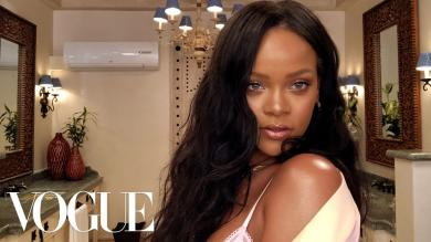 Rihannas Epic 10Minute Guide to Going Out Makeup | Beauty Secrets | Vogue