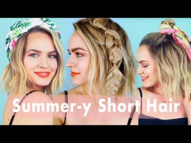 Summer Inspo for Short Hair Hairstyle Tutorial