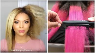 Straight Hairstyles Tutorial Hair Straightening Before and After