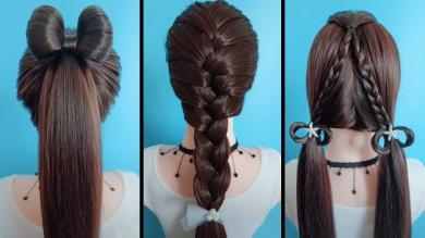 Top 5 Quick & Easy Hairstyles Tutorials For Girls! Hairstyles for School! #17