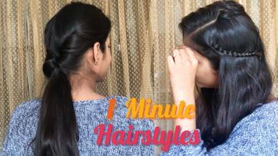1 minute CUTE & EASY Hairstyles | Lazy Everyday Hairstyles | Hairstyle Tutorials 2019