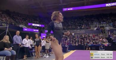 UCLA Gymnast Katelyn Ohashi Captivates the Crowd Once Again With Another Perfect-10 Routine