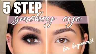 Perfect Smokey Eye in 5 Steps! Smokey Eye Tutorial for Beginners | Roxette Arisa
