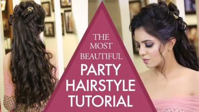 Beautiful Party Hairstyle Tutorial | Step By Step Hair Updos | Sagan Hairstyles | Krushhh By Konica