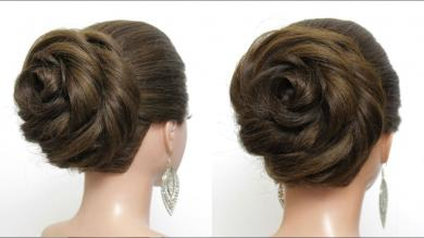 New Bun Hairstyle with Trick For Wedding & Party. Easy Updo Tutorial