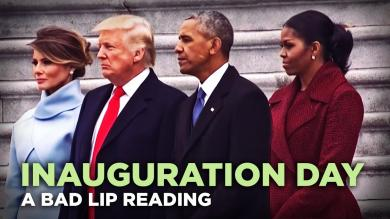INAUGURATION DAY A Bad Lip Reading of Donald Trumps Inauguration
