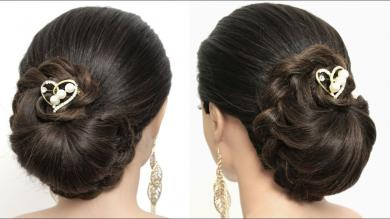 Wedding Braided Updo For Long Hair. Formal Hairstyles Tutorial