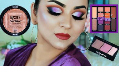 MAYBELLINE 1 Brand Makeup Tutorial (DrugstoreAffordable)