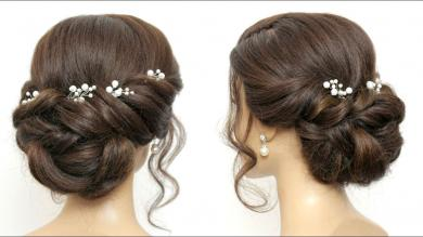 Easy Twisted Updo Tutorial For Wedding, Prom. Formal Hairstyles