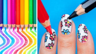 Nail Hacks you Wont Believe! 18 Nail Art Tricks!