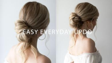 HOW TO EASY EVERYDAY UPDO HAIRSTYLE TUTORIAL WITH VOIR HAIRCARE
