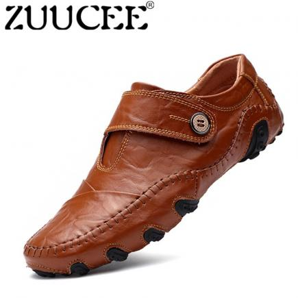 ZUUCEE Pria Fashion Loafers Sepatu OCTOPUS Sepatu Kasual Outdoor Shoes (coklat)-Intl