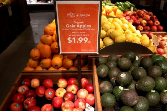 Amazon cuts Whole Foods prices for Prime members in new grocery showdown