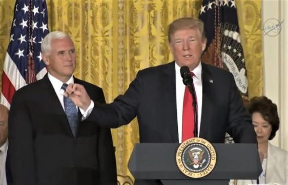 President Trump directs Pentagon to create 'separate but equal' Space Force