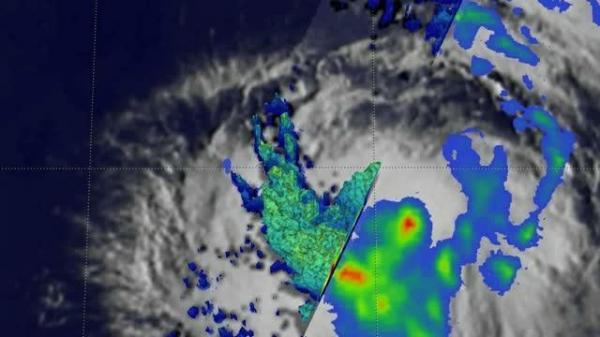 NASA's GPM finds heavy rainfall on Tropical Storm Prapiroon's southwestern side