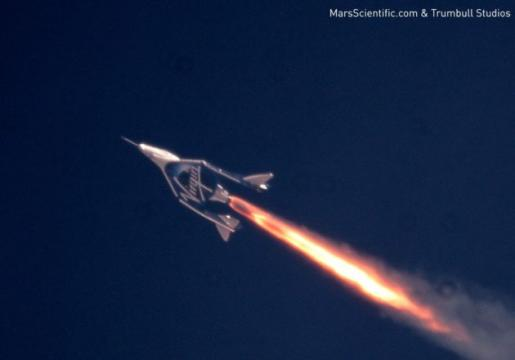 SpaceShipTwo rocket plane pushes the envelope in third supersonic test flight