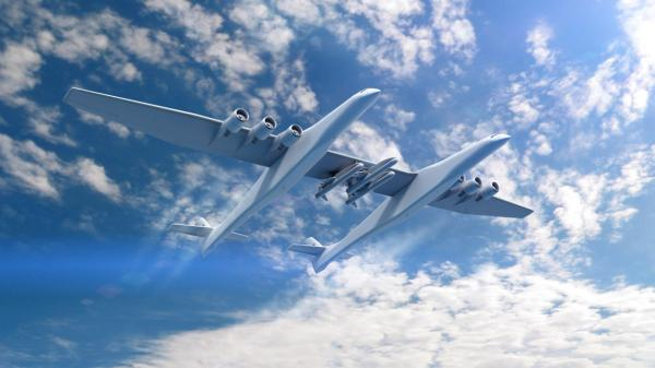 Paul Allen's Stratolaunch puts world's biggest airplane into the sky for first time
