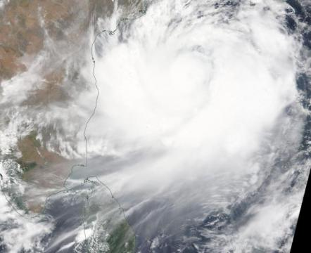 NASA satellites track Tropical Cyclone Fani along Eastern India's coastline