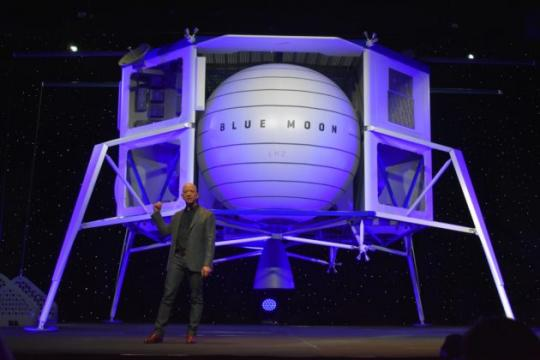 Jeff Bezos unveils 'Blue Moon' lunar lander and shares updated vision for Blue Origin in space