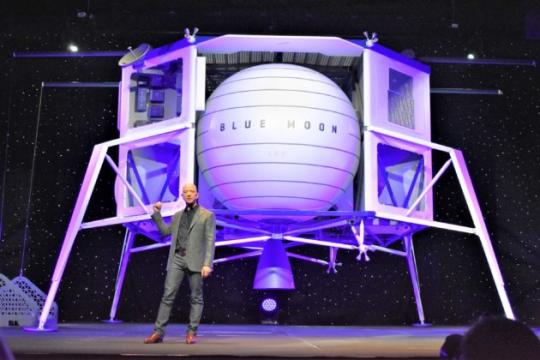 Jeff Bezos unveils Blue Moon lunar lander and shares updated vision for Blue Origin in space