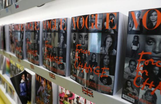 Readers line up for copy of British Vogue edited by Duchess Meghan