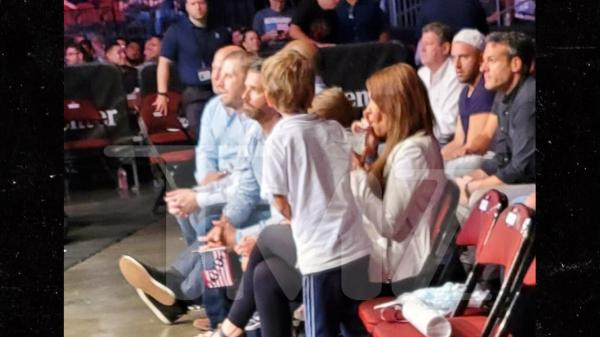 Donald Jr. and Eric Trump Catching Full Day of UFC Fights