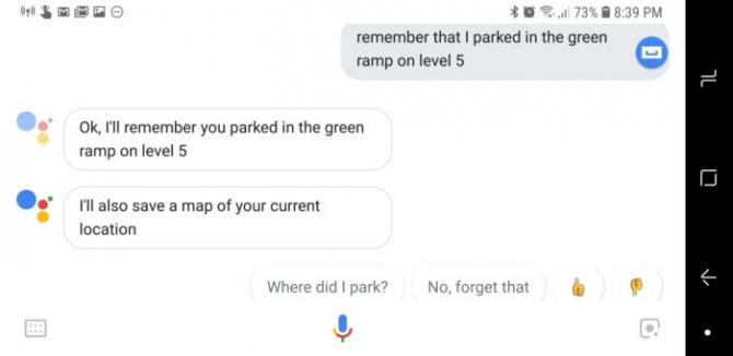 google assistant remember