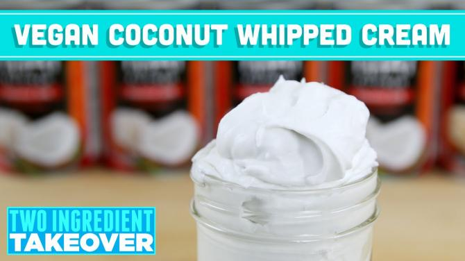 Vegan Coconut Whipped Cream Recipe Two Ingredient Takeover Mind Over Munch S02E01