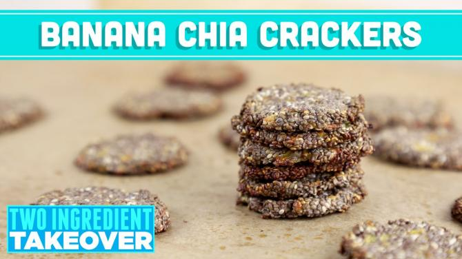 Banana Chia Crackers, Two Ingredient Takeover! Mind Over Munch