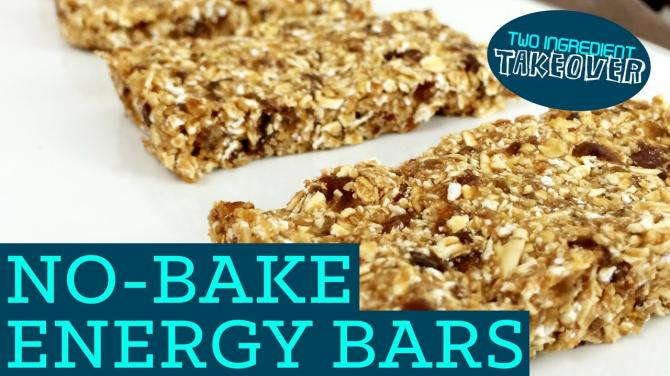 No Bake Energy Bars! Healthy Granola Recipe Mind Over Munch Two Ingredient Takeover S01E01