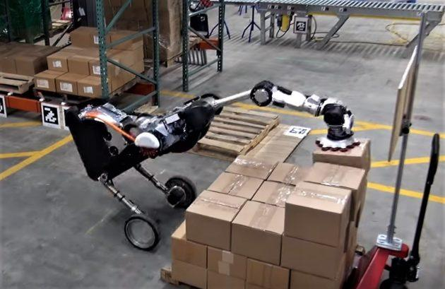 Boston Dynamics' robotic ostrich can 'handle' warehouse box-stacking tasks