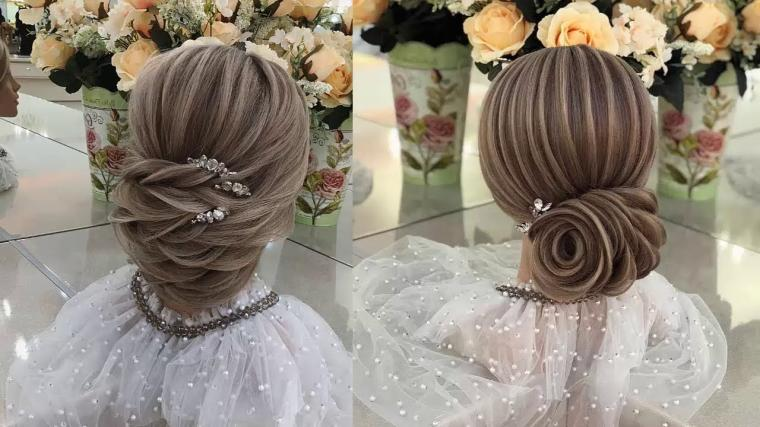 Wedding Prom Updo Hairstyles For Meium Hair  -  Elegant Hair Tutorial