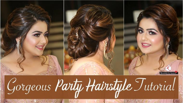Simple Party Hairstyles | Step By Step Party Hairstyle Tutorial | Hair Updo | Krushhh By Konica